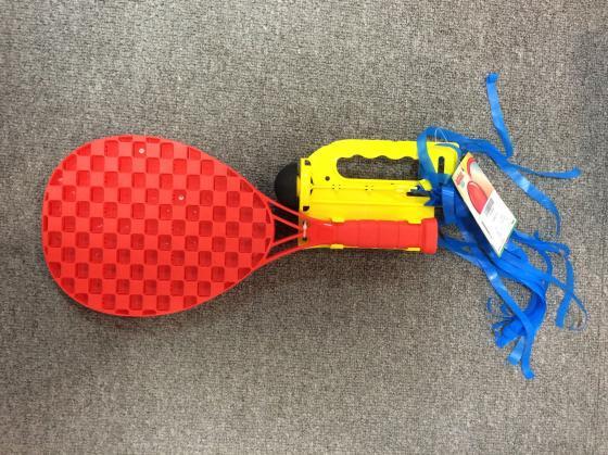 1toy набор для тенниса, ракетки пластмассовые, мяч с хвостом