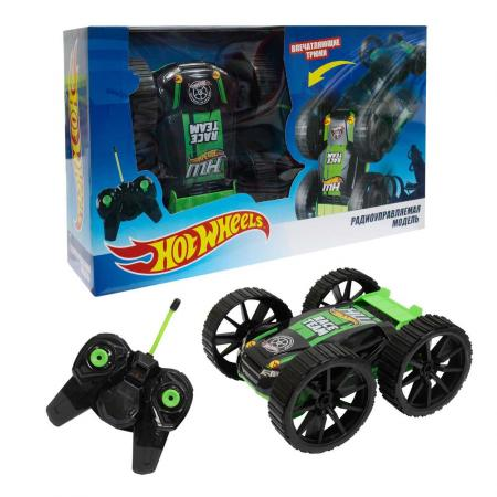 Машинка на радиоуправлении 1toy Hot Wheels черно-зеленый от 3 лет пластик Т10978 игрушки на радиоуправлении 1toy hot wheels