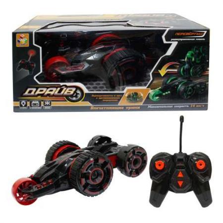 Машина 1toy Драйв, трюковая машина-перевёртыш красно-черный от 3 лет пластик Т10952 набор машинок 1toy драйв racing 10 шт т10338