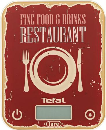 Весы кухонные Tefal BC5104V1 красный рисунок весы кухонные tefal bc5104v1 красный рисунок