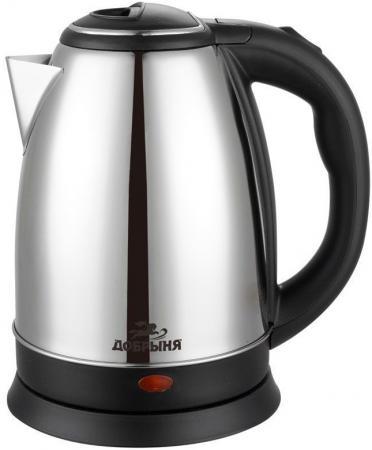 Чайник Добрыня DO-1223 1800 Вт серебристый чёрный 1.8 л нержавеющая сталь