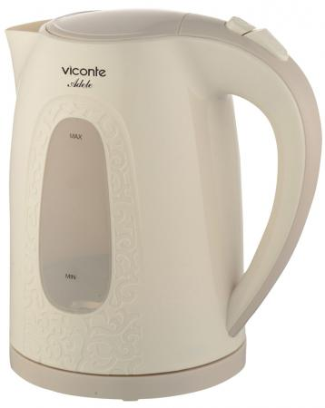 Чайник Viconte VC-3269 2200 Вт бежевый 2 л пластик чайник first fa 5427 8 bu 2200 вт белый синий 1 7 л пластик