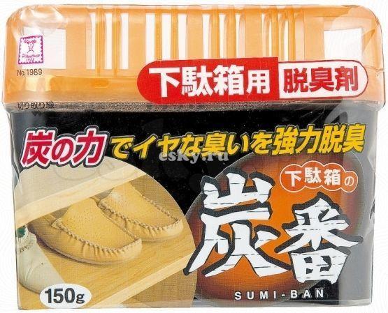 Дезодорант-поглотитель неприятных запахов Kokubo Deodorant Sumi-Ban для обувных шкафов с древесным углем kokubo поглотитель запаха в гелевых шариках shosyuс запахом персика 150 г