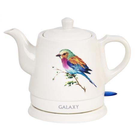 Чайник GALAXY GL0501 1400 Вт белый 1 л керамика цена и фото