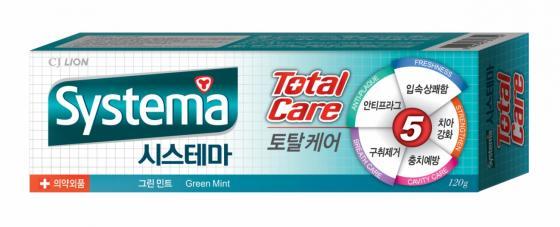 Зубная паста CJ Lion Systema 120 гр с ароматом зеленой мяты