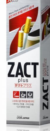 Зубная паста CJ Lion Zact -  эффектом отбеливания кофейного  никотинового налета 150 гр
