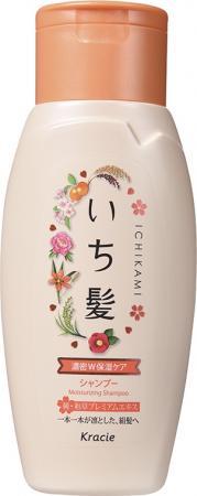Шампунь Kracie Ichikami интенсивно увлажняющий для поврежденных волос с маслом абрикоса 150 мл