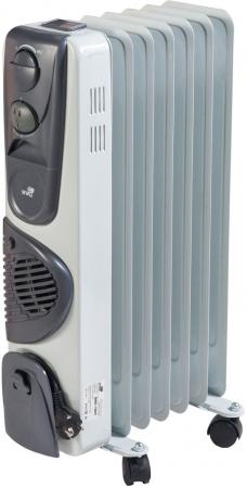Масляный радиатор WWQ RM02-1507F 1500 Вт белый серый