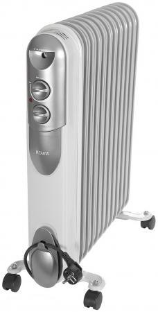 Масляный радиатор Ресанта ОМПТ-12Н 2500 Вт белый масляный обогреватель радиатор molecula mrh 2500 11