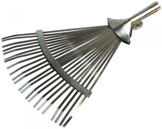 Грабли GRINDA 8-421875_z01 веерные регулируемые 22 плоских зубца 320-420мм грабли mr logo веерные 7 зубцов