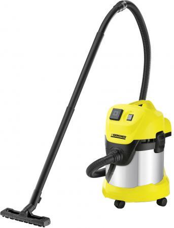 Пылесос Karcher WD 3 P Premium EU сухая уборка жёлтый 1.629-891.0 пылесос karcher wd 6 p premium