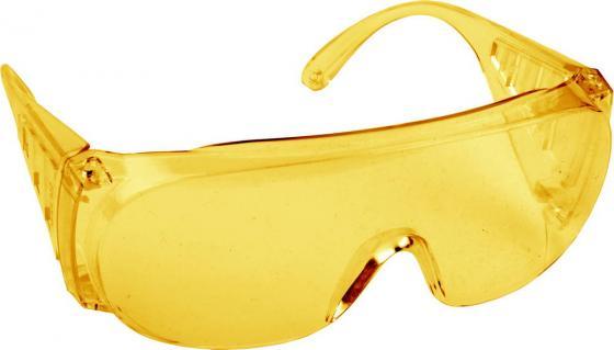 Очки DEXX 11051 защитные поликарбонатная монолинза с боковой вентиляцией желтые