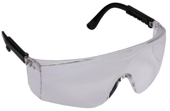 Очки STAYER 2-110461 защитные с регулируемыми по длине дужками поликарбонатные прозрачные линзы очки свона зн 2 защитные слесарные прозрачные