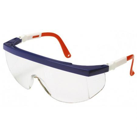 Очки STAYER 2-110481 защитные с регулируемыми по длине и углу наклона дужками поликарбонатные наколенники защитные stayer soft 2 11197