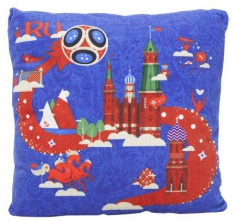 Подушка подушка FIFA подушка с принтом квадратная 25 см синий полиэстер синтепон