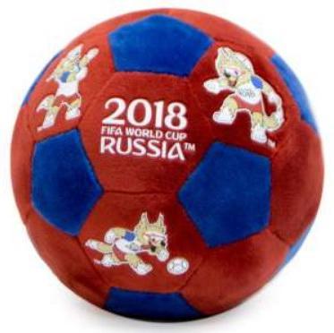 Мягкая игрушка мяч FIFA 17 см синий красный полиэстер классические fifa мягкая игрушка fifa zabivaka 21 см