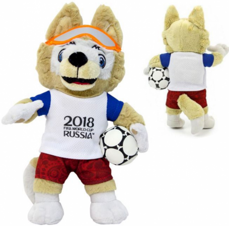 Мягкая игрушка волк FIFA Zabivaka 25 см полиэстер классические fifa мягкая игрушка fifa zabivaka 21 см