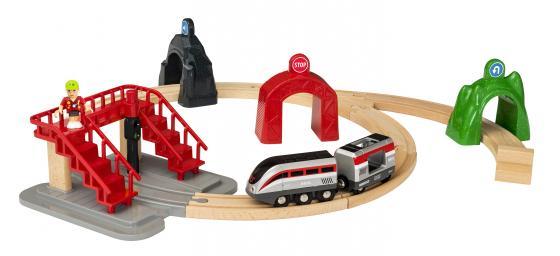 все цены на Набор Brio Smart Tech Деревянная железная дорога с поездом и управляющими тоннелями с 3-х лет 33873 онлайн