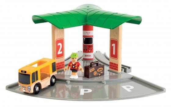 Набор Brio World Автобусный и железнодорожный вокзал с 3-х лет 33427 конструктор sluban железнодорожный вокзал старинное авто 56дет