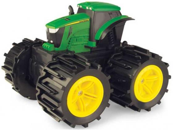 Трактор Tomy John Deere Трактор Mega Monster Wheels зеленый Т11312 машина tomy john deere monster treads 37650 3