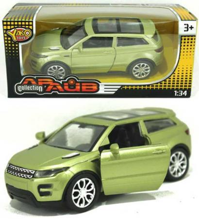 Машина Yako Драйв - Рендж Ровер 12 см зеленый M6106 игрушка yako m6106