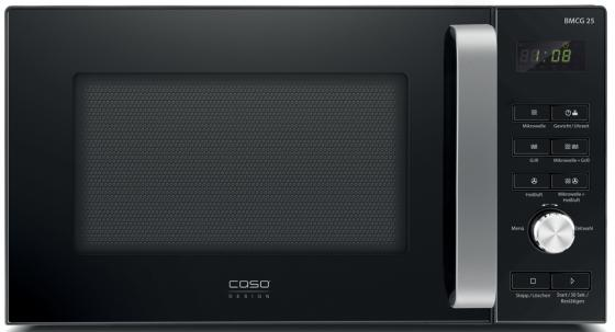Микроволновая печь CASO BMCG 25 900 Вт чёрный микроволновая печь bbk 23mws 927m w 900 вт белый