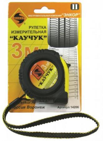 Рулетка ЭНКОР Каучук 3мx16мм 14206 уровень 800мм энкор 6699