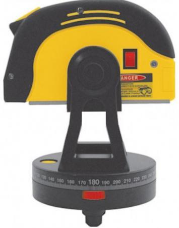 Рулетка FIT 18675 5м х 25мм, на поворотном столе, с лазер.уровнем, магнит, 2 глазка, прорез.корпус
