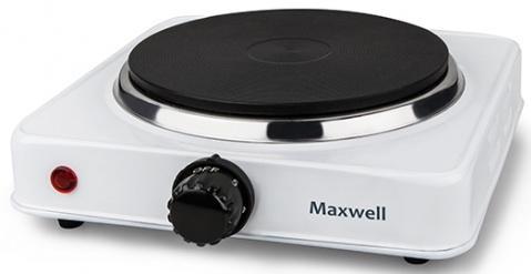1903-MW(W) Плитка электр.Maxwell Мощность 1000 Вт Диаметр конфорки 155 мм. плитка электрическая endever skyline ep 17 w 1000 вт 1 конфорка диаметр конфорки 15 5 см белый