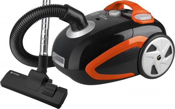 8112(BK) Пылесос VITEK Мощность всасывания 400 Вт.Емкость пылесборника 3Л.