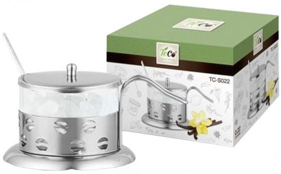 022S-TC-2((кофе) Сахарница TECO из стекла и нержавеющей стали (200мл) стакан стеклянный в подстаканнике 200мл teco tc g020 2