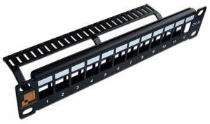 Патч-панель наборная 10, неэкранированная, 12 портов, 1U, LANMASTER патч панель lanmaster twt pp24utp 19 1u