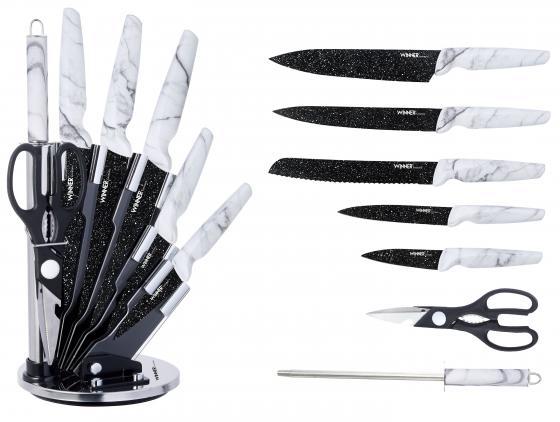 7355-WR Ножи WINNER Набор из  предметов с подставкой.Состав: нерж. сталь.