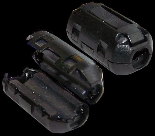 Фильтр ферритовый на шнур питания 3х0.75 мм2 с защелкой, черный