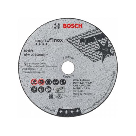 Круг отрезной BOSCH 2608601520 для ушм exp for inox 76x1x10мм 5шт по нержавеющей стали отрезной диск для ушм 115 мм bosch 2608623012