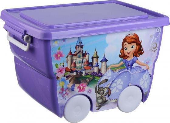 IDEA Ящик для игрушек Disney 24л лиловый термокружка idea
