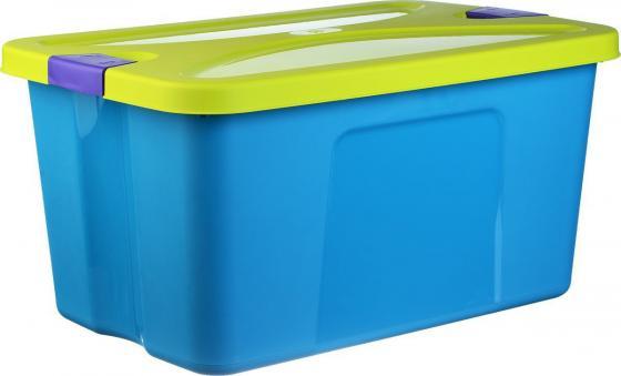 IDEA Ящик для игрушек СЕКРЕТ 50л бирюзовый