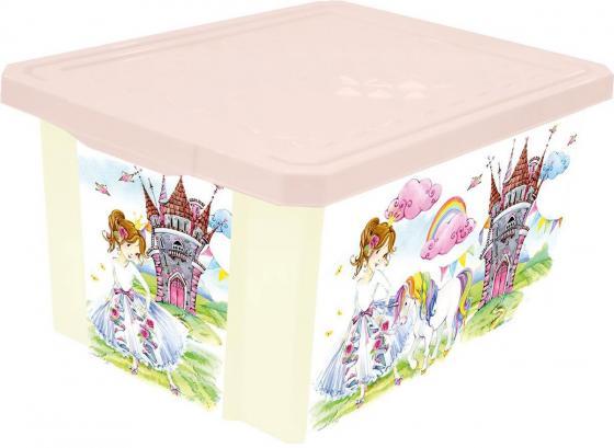 Littel Angel Ящик для игрушек X-BOX Сказочная Принцесса 17л little angel накладка на унитаз little angel голубой