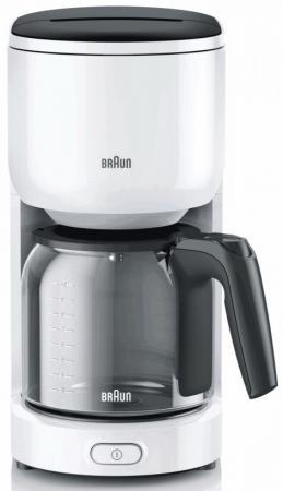 Кофеварка Braun KF 3100 1000 Вт белый цена и фото