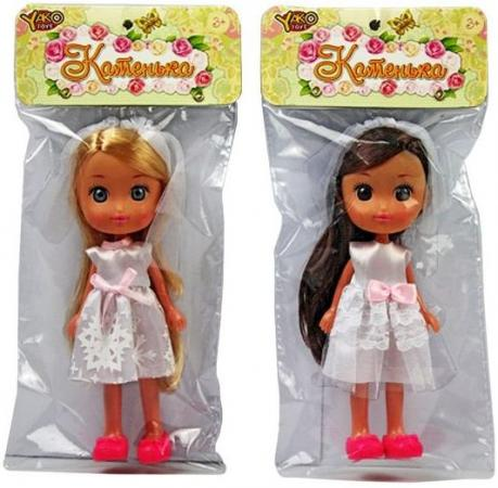 Кукла Катенька-невеста, пакет. 16,5 см. кукла yako катенька m6620