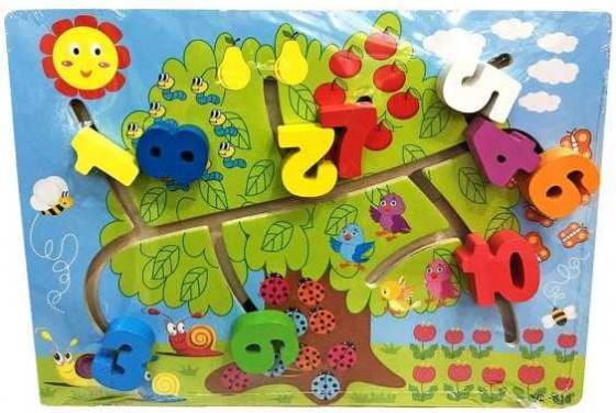 Интерактивная игрушка Наша Игрушка Лабиринт-логика Счет до 10 от 3 лет SPYH170719-26 интерактивная игрушка наша игрушка рыбалка черепашка от 3 лет tnwx 1429