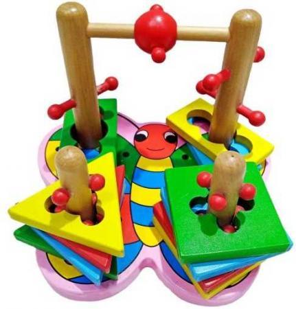 Интерактивная игрушка Наша Игрушка Лабиринт-головоломка Бабочка от 3 лет SPYH170719-31 интерактивная игрушка наша игрушка телефончик е нотка от 18 месяцев цвет в ассортименте 60081
