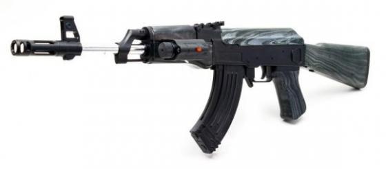 Купить Автомат Наша Игрушка Автомат черный ES2142-0807C, 65X19X8 см, для мальчика, Игрушечное оружие