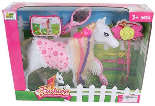 Игровой набор Наша Игрушка Модная лошадка 801-2 игрушка наша игрушка лошадка 100694662