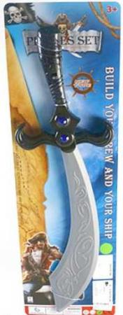 Меч Наша Игрушка Меч Пирата серебристый черный HJ5991 игрушка меч