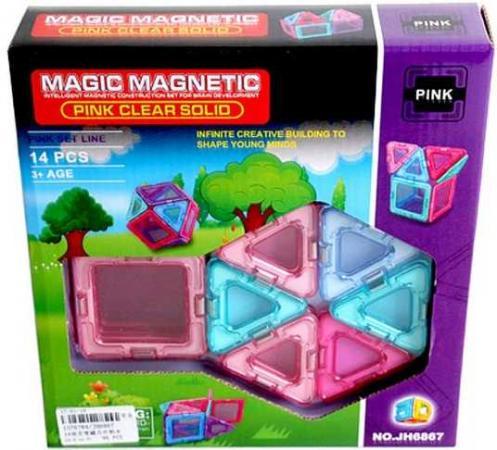 Купить Магнитный конструктор Наша Игрушка Magic magnetic 14 элементов JH6867, Детские конструкторы