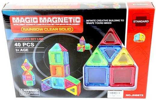 Магнитный конструктор Наша Игрушка Magic magnetic 40 элементов JH6872 цена