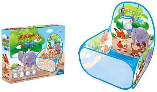 Манеж детский игровой Зверята, 59*59*74см, в комплекте пласт.шары 60шт., коробка детский манеж zhi xuan