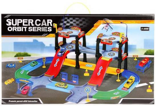 Парковка, 3 уровня, машина 5шт, вертолет 1шт., деталей 64шт. машины faro парковка 3 уровня с машинами