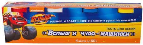 Тесто для лепки РОСМЭН Вспыш  чудо-машинки 4 цвета 33357